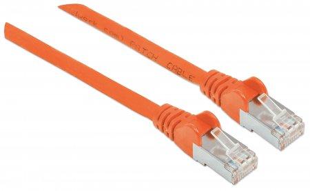 Netzwerkkabel, Cat6A, S/FTP INTELLINET RJ45-Stecker/RJ45-Stecker, 0,5 m, orange