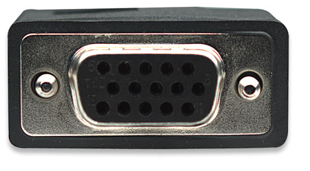 SVGA Verlängerungskabel mit Ferritkernen MANHATTAN HD15 Stecker auf HD15 Buchse mit Ferritkernen, Schwarz, 10 m