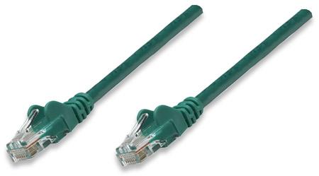 Netzwerkkabel, Cat5e, U/UTP INTELLINET CCA, Cat5e-kompatibel, RJ45-Stecker/RJ45-Stecker, 2,0 m, grün