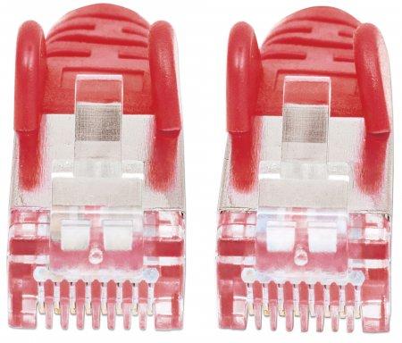 Premium Netzwerkkabel, Cat6a, S/FTP INTELLINET 100% Kupfer, Cat6a-zertifiziert, LS0H, RJ45-Stecker/RJ45-Stecker, 7,5 m, rot