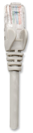 Netzwerkkabel, Cat5e, U/UTP INTELLINET CCA, Cat5e-kompatibel, RJ45-Stecker/RJ45-Stecker, 7,5 m, grau