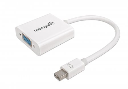 Mini DisplayPort to VGA Adapter - Connects a mini-DisplayPort source to VGA display cable, Mini DisplayPort Male to VGA Female, Active