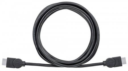 High Speed HDMI-Kabel mit Ethernet-Kanal MANHATTAN HEC, ARC, 3D, 4K@30Hz, HDMI-Stecker auf HDMI-Stecker, geschirmt, schwarz, 3 m