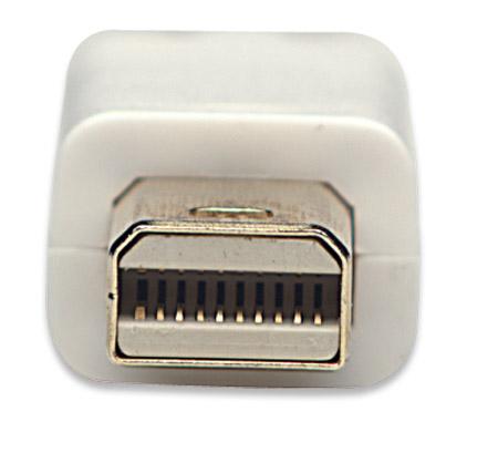 Mini-DisplayPort-Kabel MANHATTAN Mini-DisplayPort-Stecker auf Mini-DisplayPort-Stecker, 1 m, weiß