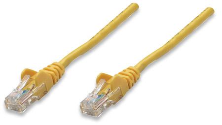 Netzwerkkabel, Cat5e, U/UTP INTELLINET CCA, Cat5e-kompatibel, RJ45-Stecker/RJ45-Stecker, 20,0 m, gelb