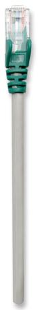 Crossover-Kabel, Cat5e, UTP INTELLINET RJ45 Stecker / RJ45 Stecker,  30,0 m, Grau mit grünen Steckern