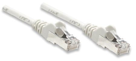 Netzwerkkabel, Cat5e, F/UTP INTELLINET CCA, Cat5e-kompatibel, RJ45-Stecker/RJ45-Stecker, 1,0 m, grau