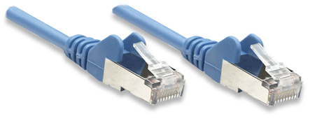 Netzwerkkabel, Cat5e, SF/UTP INTELLINET CCA, Cat5e-kompatibel, RJ45-Stecker/RJ45-Stecker, 3,0 m, blau