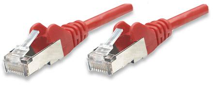 Netzwerkkabel, Cat5e, SF/UTP INTELLINET CCA, Cat5e-kompatibel, RJ45-Stecker/RJ45-Stecker, 20 m, rot