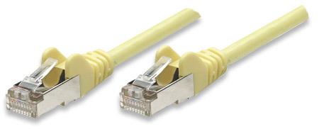 Netzwerkkabel, Cat5e, F/UTP INTELLINET RJ45 Stecker / RJ45 Stecker,  10,0 m, Gelb