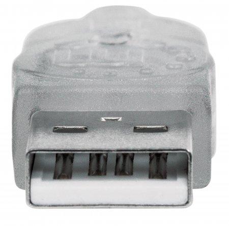 Hi-Speed USB 2.0 Verlängerungskabel MANHATTAN USB 2.0, Typ A Stecker - Typ A Buchse, 480 Mbps, 1,8 m, Silber