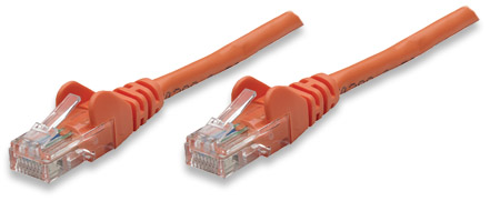 Network Cable, Cat5e, UTP - , RJ-45 Male / RJ-45 Male, 2.0 m (7 ft.), Orange