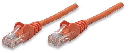 Network Cable, Cat5e, UTP - , RJ-45 Male / RJ-45 Male, 3.0 m (10 ft.), Orange