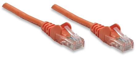 Netzwerkkabel, Cat5e, UTP INTELLINET RJ45-Stecker / RJ45-Stecker, 3 m, orange