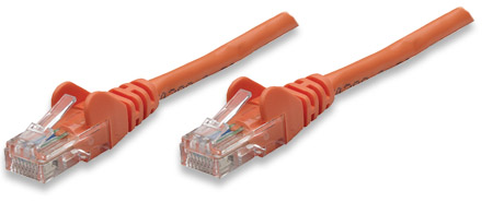 Network Cable, Cat5e, UTP - , RJ-45 Male / RJ-45 Male, 7.5 m (25 ft.), Orange