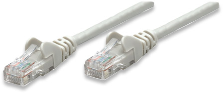 Network Cable, Cat6, UTP - , RJ-45 Male / RJ-45 Male, 0.3 m (1 ft.), Gray