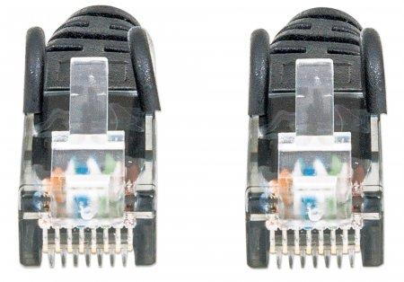 Netzwerkkabel, Cat6, U/UTP INTELLINET CCA, Cat6-kompatibel, RJ45-Stecker/RJ45-Stecker, 0,5 m, schwarz