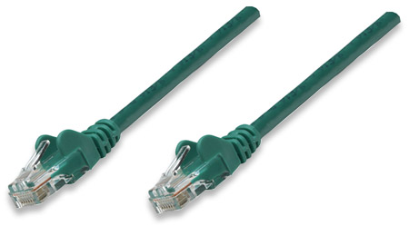 Network Cable, Cat6, UTP - , RJ-45 Male / RJ-45 Male, 0.3 m (1 ft.), Green