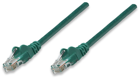 Network Cable, Cat5e, UTP - , RJ-45 Male / RJ-45 Male, 0.3 m (1 ft.), Green