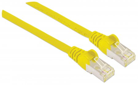 Premium Netzwerkkabel, Cat6a, S/FTP INTELLINET 100% Kupfer, Cat6a-zertifiziert, LS0H, RJ45-Stecker/RJ45-Stecker, 0,5 m, gelb