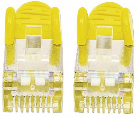 Premium Netzwerkkabel, Cat6a, S/FTP INTELLINET 100% Kupfer, Cat6a-zertifiziert, LS0H, RJ45-Stecker/RJ45-Stecker, 2,0 m, gelb