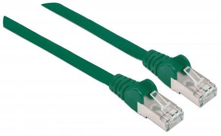 Premium Netzwerkkabel, Cat6a, S/FTP INTELLINET 100% Kupfer, Cat6a-zertifiziert, LS0H, RJ45-Stecker/RJ45-Stecker, 15,0 m, grün