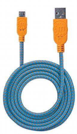 Hi-Speed Micro-B-USB-Kabel mit Stoffummantelung USB 2.0, 352734 (BILD5)