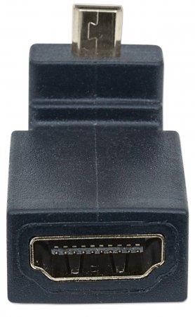HDMI-Adapter, gewinkelt MANHATTAN HDMI A-Buchse auf Micro-Stecker, 90° nach oben gewinkelt