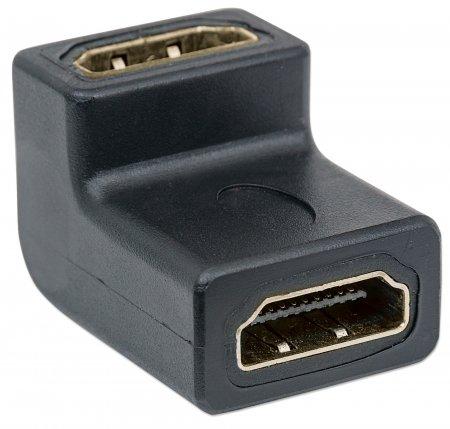 HDMI-Kupplung, gewinkelt MANHATTAN HDMI A-Buchse auf A-Buchse, 90° gewinkelt