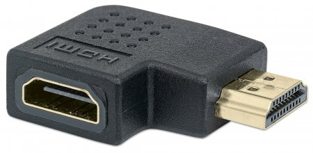 HDMI Adapter, gewinkelt MANHATTAN HDMI A-Buchse auf A-Stecker, 90° nach links gewinkelt