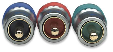 Component Video Kabel MANHATTAN 3 x Cinch auf 3 x Cinch, Blau, 3.0 m