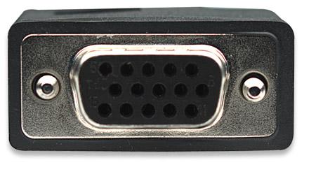 SVGA Verlängerungskabel mit Ferritkernen MANHATTAN HD15 Stecker auf HD15 Buchse mit Ferritkernen, schwarz, 7,5 m