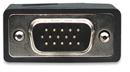SVGA Monitorkabel mit Ferritkernen MANHATTAN HD15 Stecker auf HD15 Stecker mit Ferritkernen, schwarz, 7,5 m
