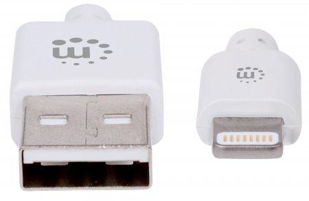 iLynk Lightning auf USB Kabel für iPad/iPhone/iPod MANHATTAN A-Stecker / Lightning-Stecker, 3 m, weiß