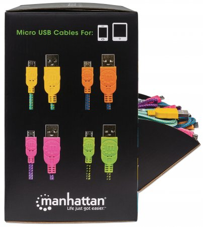 Braided Micro-USB Cable Countertop Display