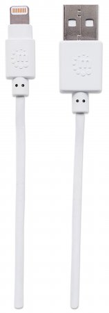 iLynk Lightning auf USB Kabel für iPad/iPhone/iPod MANHATTAN A-Stecker / Lightning-Stecker, 15 cm, weiß