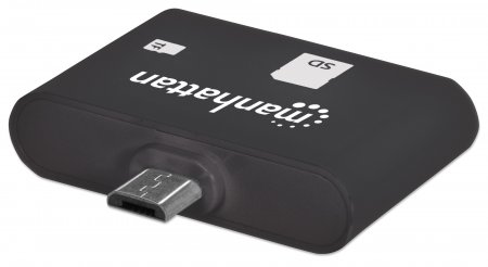 imPORT SD: USB OTG Card Reader MANHATTAN Mobiler 24-in-1 Card Reader für Ihr USB-OTG-fähiges Smartphone oder Tablet