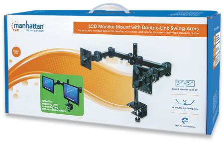 LCD Monitor Mount with Double-Link Swing Arms