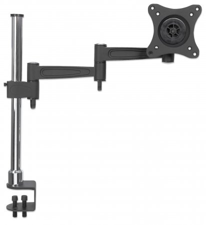 LCD Monitor Pole - , Supports one monitor, double-link swing arm