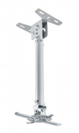Universal Deckenhalterung für Beamer MANHATTAN Stange neig-, schwenk- und höhenverstellbar, für Beamer bis zu 20 kg, Aluminium, silber