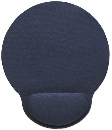Wrist-Rest Mouse Pad - , Gel material promotes proper hand and wrist position, Blue