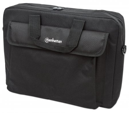"London Notebook Computer Briefcase - , Top Load; Fits Most Widescreens Up To 15.6"", Black"