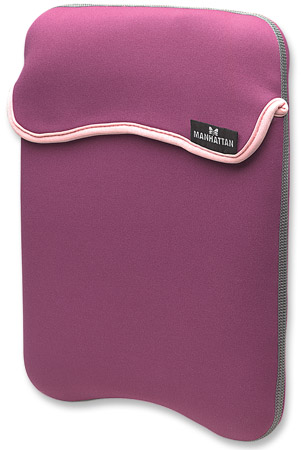 "iPad Pouch - Everyday protection for iPads, digital readers and tablets, Reversible, Fits iPad and Most Tablets Up to 9.7"", Purple/Beige"