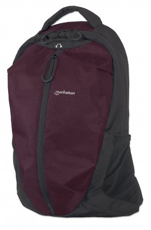 "Airpack - Lightweight Backpack for Laptop Computers up to 15.6"", Lightweight Top-Loading Backpack for Most Laptop Computers Up To 15.6"", Plum/Black"