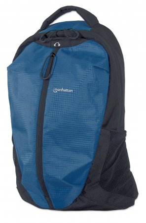 "Airpack - Lightweight Backpack for Laptop Computers up to 15.6"", Lightweight Top-Loading, Two-Compartment Ripstop Nylon Backpack for Most Laptop Computers Up To 15.6"", Blue/Black"