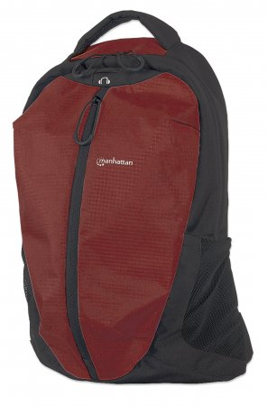 "Airpack - Lightweight Backpack for Laptop Computers up to 15.6"", Lightweight Top-Loading Backpack for Most Laptop Computers Up To 15.6"", Red/Black"
