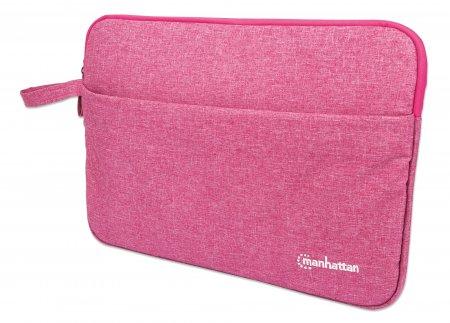 Seattle Notebook Sleeve 14,5'' MANHATTAN Schutzhülle für Notebooks bis zu 14,5'', Top Load, Premiumpolsterung, wasserfest, ein Innenfach, ein Frontfach, pink