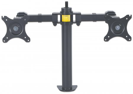 LCD Monitor Mount with Double-Link Swing Arms - , Supports two LCD monitors up to 30""