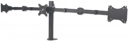 "LCD Monitor Mount with Center Mount and Double-Link Swing Arms - , Supports three LCD monitors up to 30"", one center mounted and two on double-link swing arms"