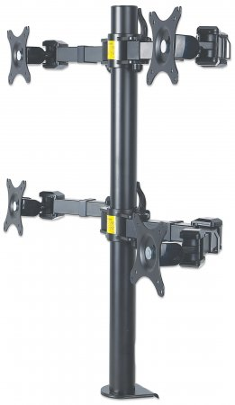 LCD Monitor Mount with Double-Link Swing Arms - , Supports four LCD monitors up to 30""